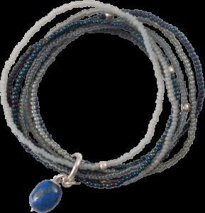 BL23553-Nirmala Lapis Lazuli Silver Bracelet